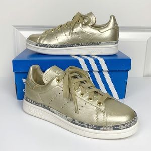 Adidas Stan Smith New Bold Sneakers - Gold - 6